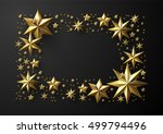 christmas frame made of cutout... | Shutterstock .eps vector #499794496