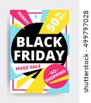 flat design black friday sale... | Shutterstock .eps vector #499797028