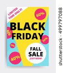 flat design black friday sale... | Shutterstock .eps vector #499797088