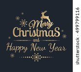 merry christmas and happy new... | Shutterstock .eps vector #499799116
