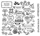 hand drawn vector set of... | Shutterstock .eps vector #499804390