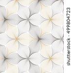 flower pattern vector ... | Shutterstock .eps vector #499804723