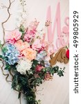 decoration for a wedding... | Shutterstock . vector #499805929