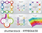 set with infographics. data and ... | Shutterstock .eps vector #499806658
