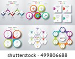 set with infographics. data and ... | Shutterstock .eps vector #499806688