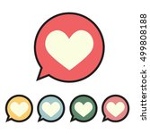 heart in speech bubble icon.... | Shutterstock .eps vector #499808188