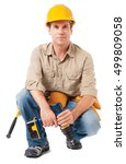 construction worker contractor...   Shutterstock . vector #499809058
