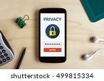 online privacy concept on smart ... | Shutterstock . vector #499815334
