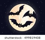 cute flying and smiling bats.... | Shutterstock . vector #499819408