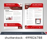 front and back page annual... | Shutterstock .eps vector #499826788