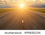 mountain road on the sunset. | Shutterstock . vector #499830154