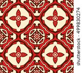 red and beige vector geometric... | Shutterstock .eps vector #499830274