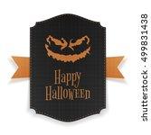 halloween realistic party... | Shutterstock .eps vector #499831438