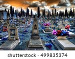 churchyard and christian... | Shutterstock . vector #499835374