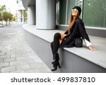 outdoors fashion portrait of... | Shutterstock . vector #499837810