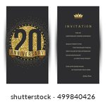 20th anniversary decorated... | Shutterstock .eps vector #499840426