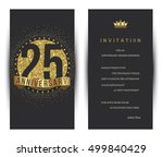 25th anniversary decorated... | Shutterstock .eps vector #499840429