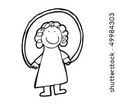 child's drawing of a girl... | Shutterstock .eps vector #49984303