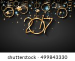 2017 happy new year background... | Shutterstock .eps vector #499843330