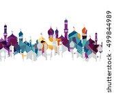 arabic islam calligraphy... | Shutterstock .eps vector #499844989