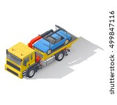 vehicle tow truck transporting... | Shutterstock .eps vector #499847116