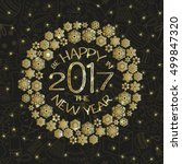 new year greeting card with... | Shutterstock .eps vector #499847320