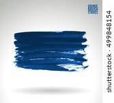 brushstroke and texture. vector ... | Shutterstock .eps vector #499848154