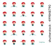 girl expression faces | Shutterstock .eps vector #499848790