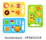healthy and tasty school lunch... | Shutterstock .eps vector #499852318