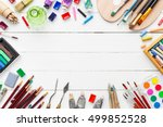 watercolor and oil paints ...   Shutterstock . vector #499852528