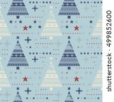 cute seamless pattern with... | Shutterstock .eps vector #499852600