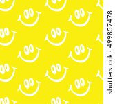 smile vector pattern on yellow... | Shutterstock .eps vector #499857478