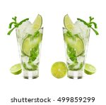 mojito isolated on white... | Shutterstock . vector #499859299