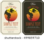 vector labels for wine with... | Shutterstock .eps vector #499859710