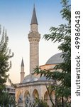Small photo of Firuz Aga Mosque of Istanbul city during sunset time. Istanbul, Turkey.