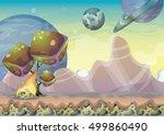 cartoon vector landscape with... | Shutterstock .eps vector #499860490