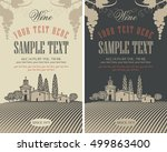 wine labels set with a... | Shutterstock .eps vector #499863400