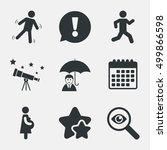 businessman with umbrella icon. ... | Shutterstock .eps vector #499866598
