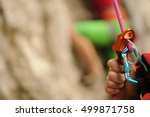 Small photo of climbing gear abseil