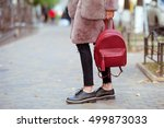 fashionable young woman in... | Shutterstock . vector #499873033