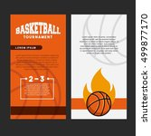 basketball league emblem... | Shutterstock .eps vector #499877170