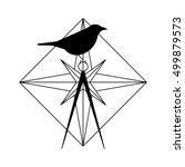 vector illustration of wind... | Shutterstock .eps vector #499879573
