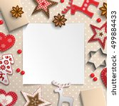abstract christmas background ... | Shutterstock .eps vector #499884433