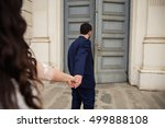 wedding follow me photo. groom... | Shutterstock . vector #499888108