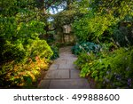 path in the bishop's garden at... | Shutterstock . vector #499888600
