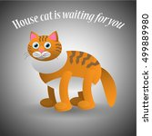 red cat is waiting for you... | Shutterstock .eps vector #499889980