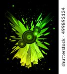 disco club flayer with colorful ... | Shutterstock .eps vector #499893124