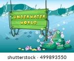 cartoon vector underwater...   Shutterstock .eps vector #499893550