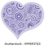heart decoration pastel blue   Shutterstock .eps vector #499893763