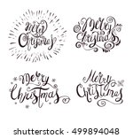 merry christmas vector text .... | Shutterstock .eps vector #499894048